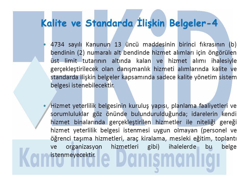 Kalite ve Standarda İlişkin Belgeler-4