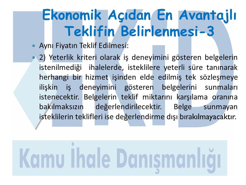 Ekonomik Açıdan En Avantajlı Teklifin Belirlenmesi-3