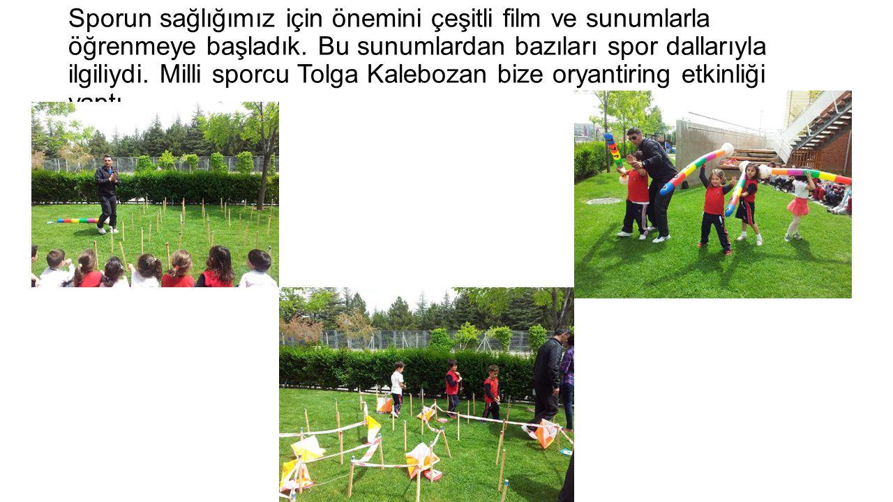 Sporun sağlığımız için önemini çeşitli film ve sunumlarla öğrenmeye başladık.