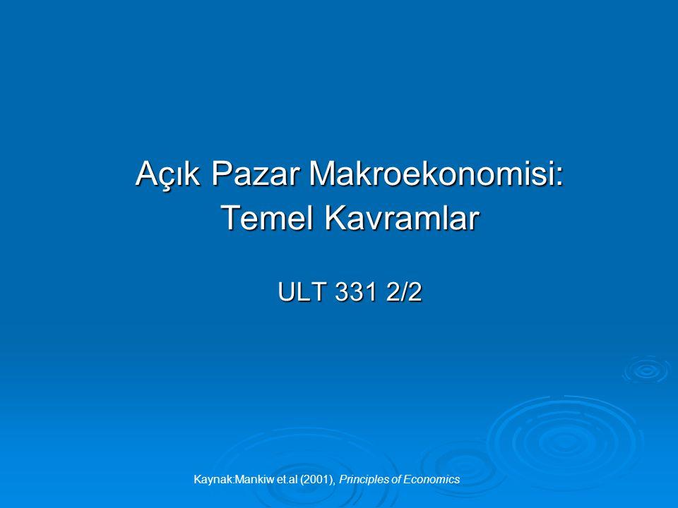 Açık Pazar Makroekonomisi: Temel Kavramlar ULT 331 2/2