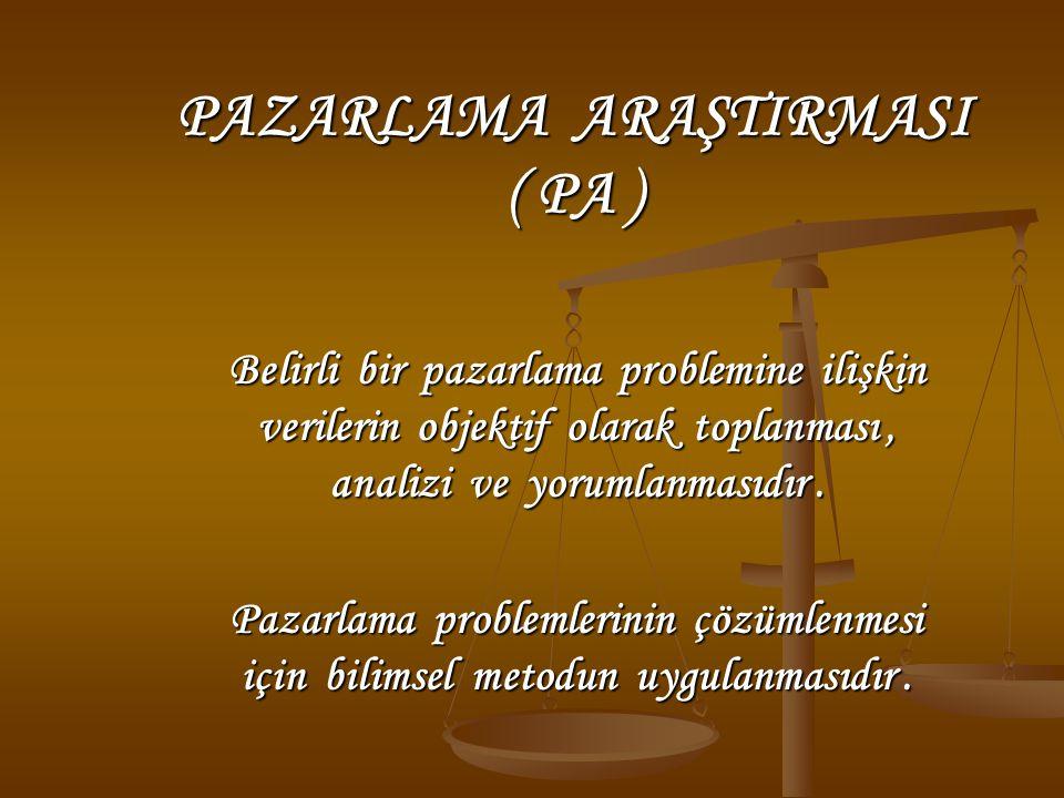 PAZARLAMA ARAŞTIRMASI ( PA )