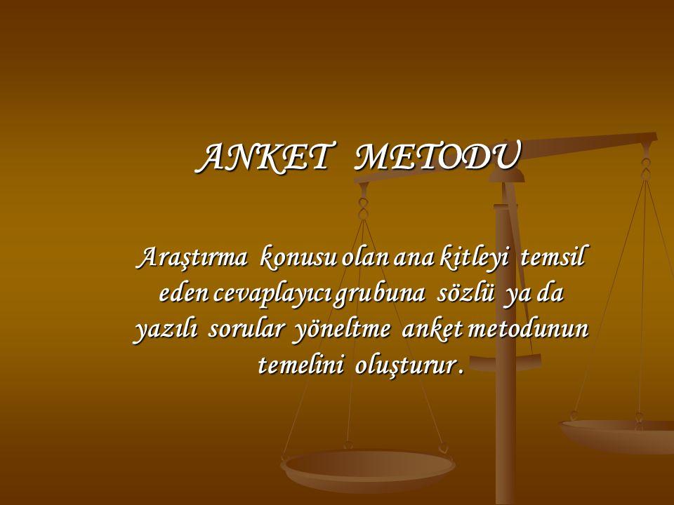 ANKET METODU