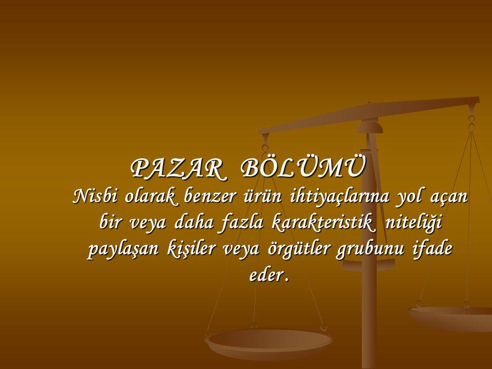 PAZAR BÖLÜMÜ