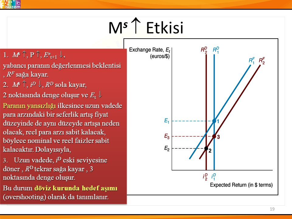 Ms  Etkisi 1. Ms , P , Eet+1 