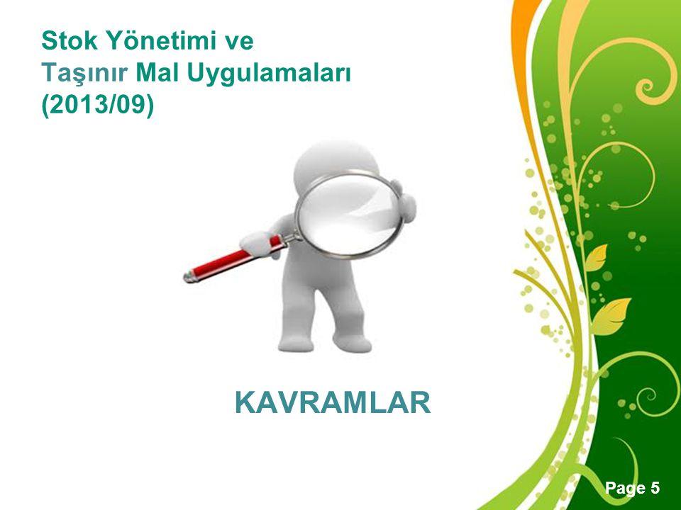 Stok Yönetimi ve Taşınır Mal Uygulamaları (2013/09)