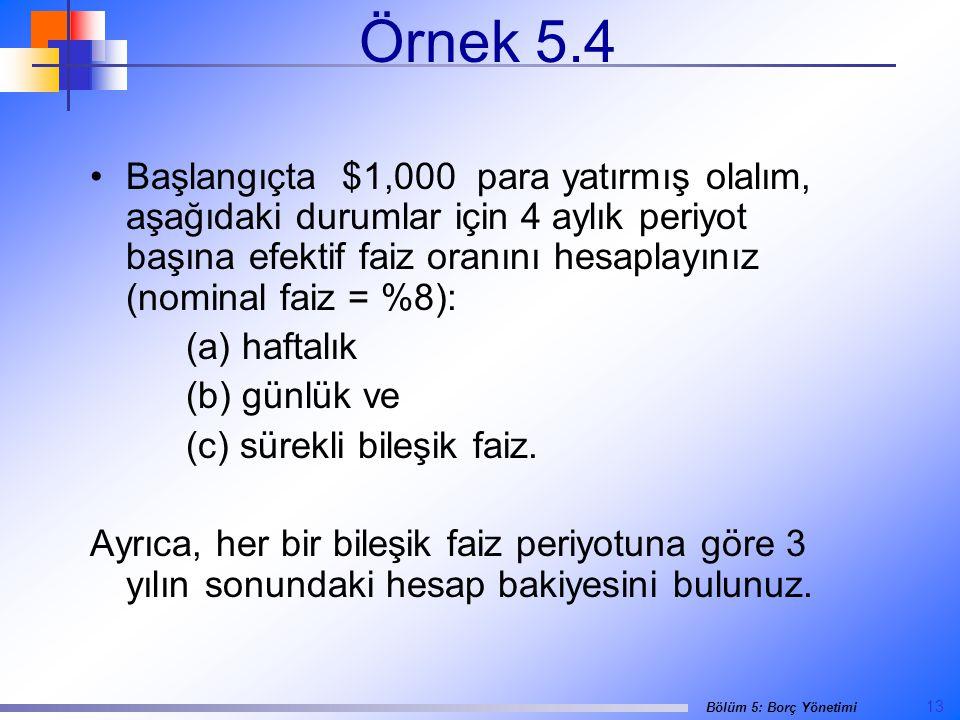Örnek 5.4