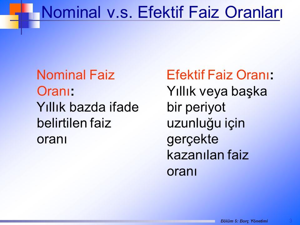 Nominal v.s. Efektif Faiz Oranları