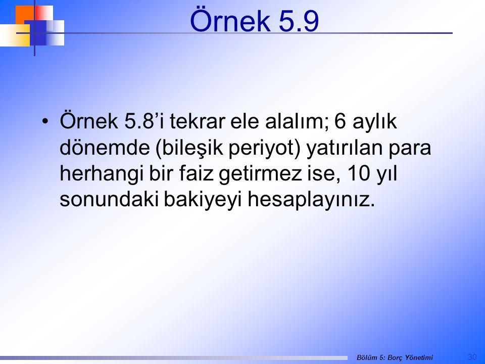 Örnek 5.9