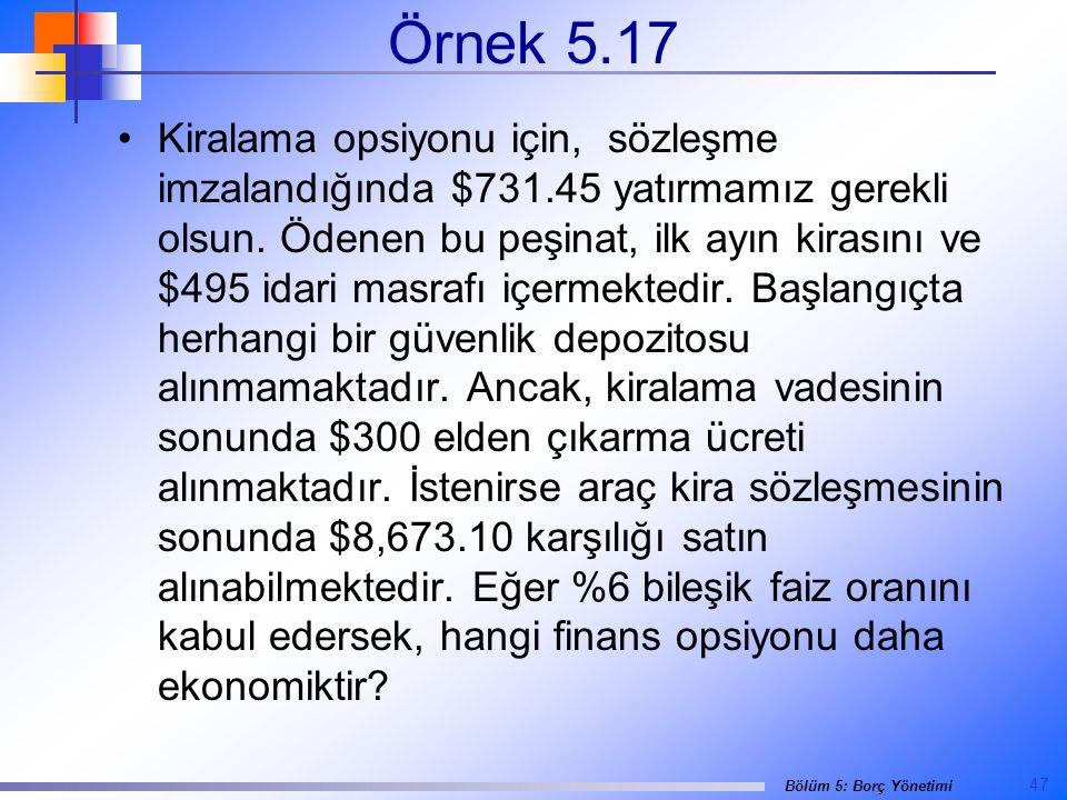 Örnek 5.17