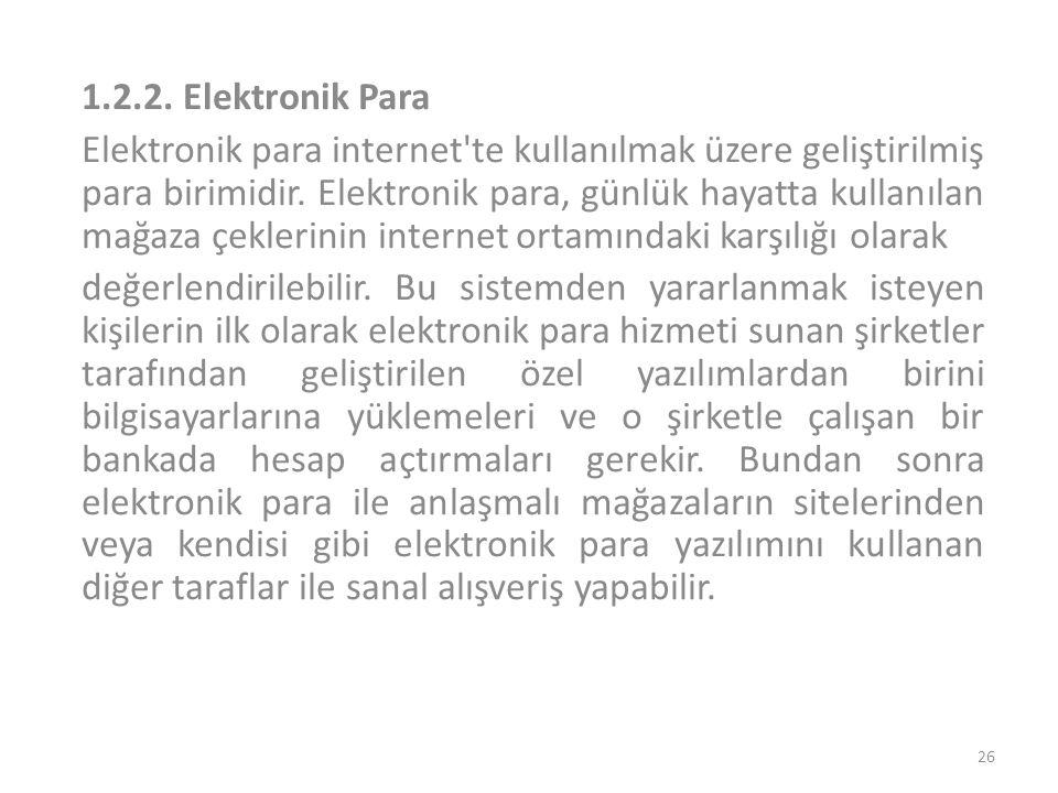 1.2.2. Elektronik Para