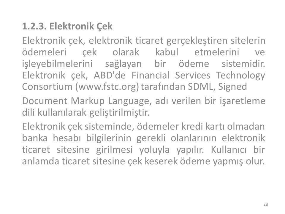 1.2.3. Elektronik Çek