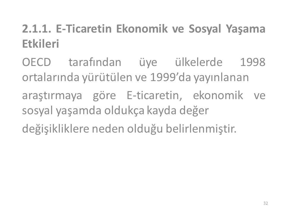 2.1.1. E-Ticaretin Ekonomik ve Sosyal Yaşama Etkileri