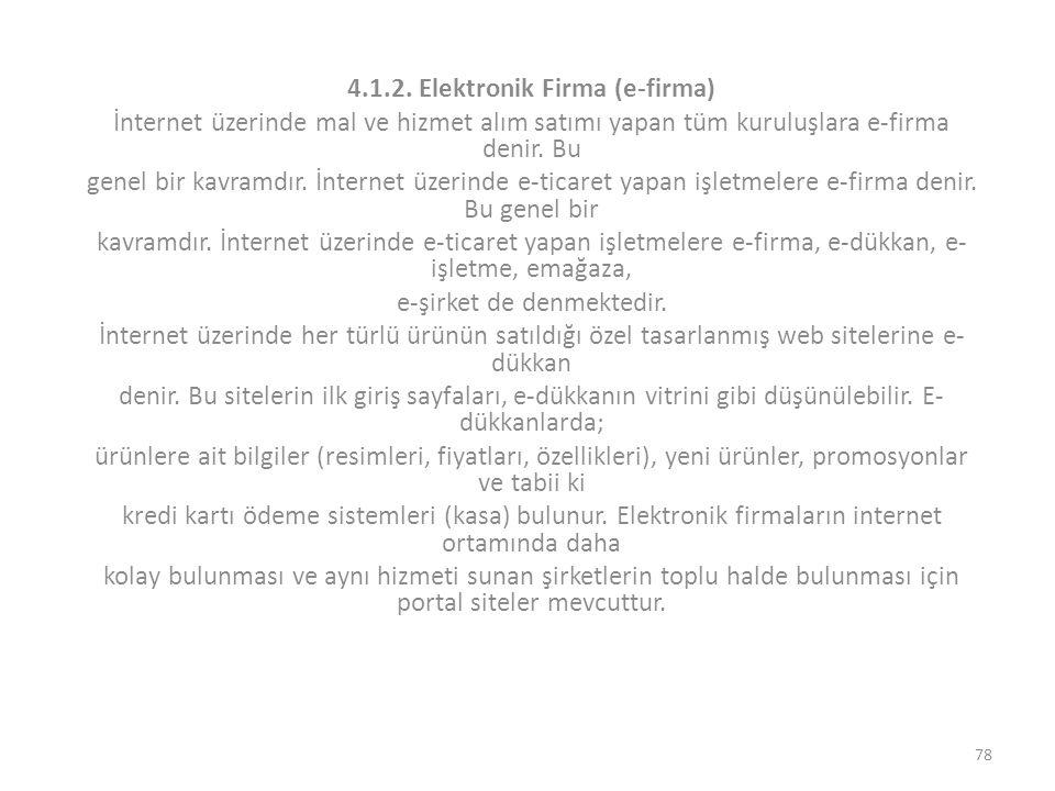 4.1.2. Elektronik Firma (e-firma)