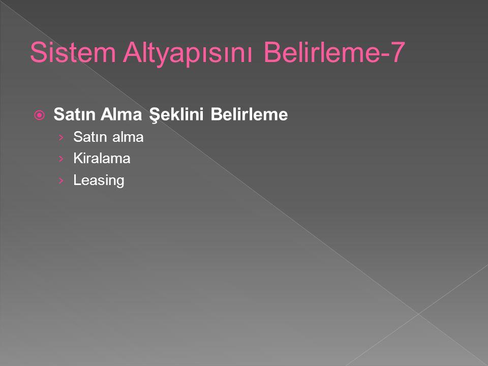 Sistem Altyapısını Belirleme-7