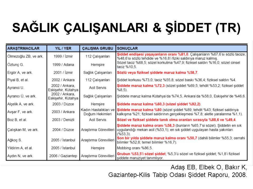 SAĞLIK ÇALIŞANLARI & ŞİDDET (TR)