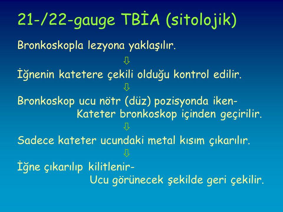 21-/22-gauge TBİA (sitolojik)