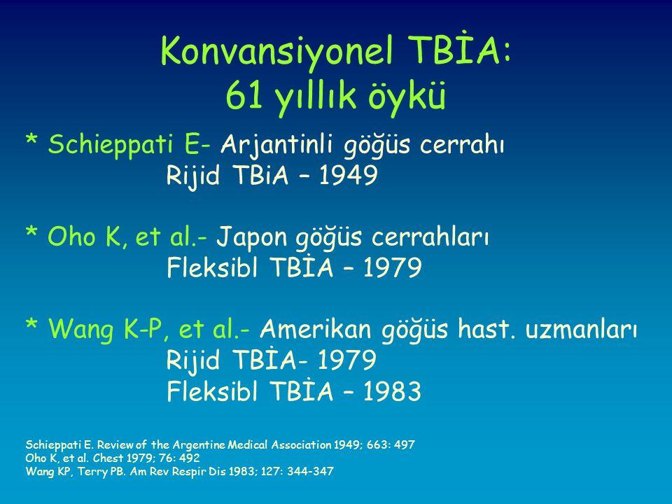 Konvansiyonel TBİA: 61 yıllık öykü
