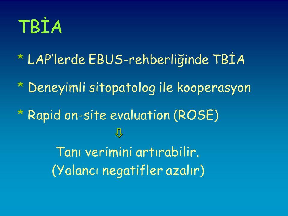 TBİA * LAP'lerde EBUS-rehberliğinde TBİA