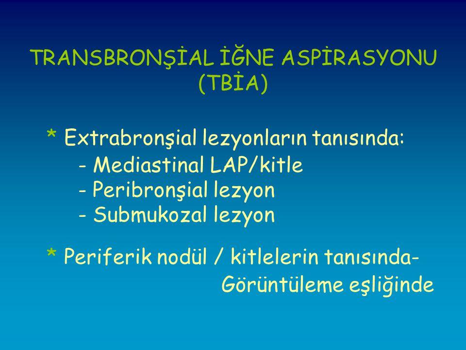 TRANSBRONŞİAL İĞNE ASPİRASYONU (TBİA)