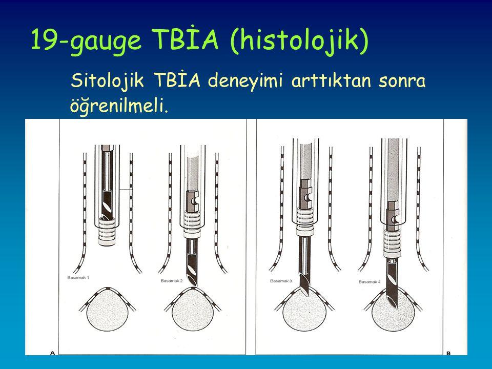 19-gauge TBİA (histolojik)