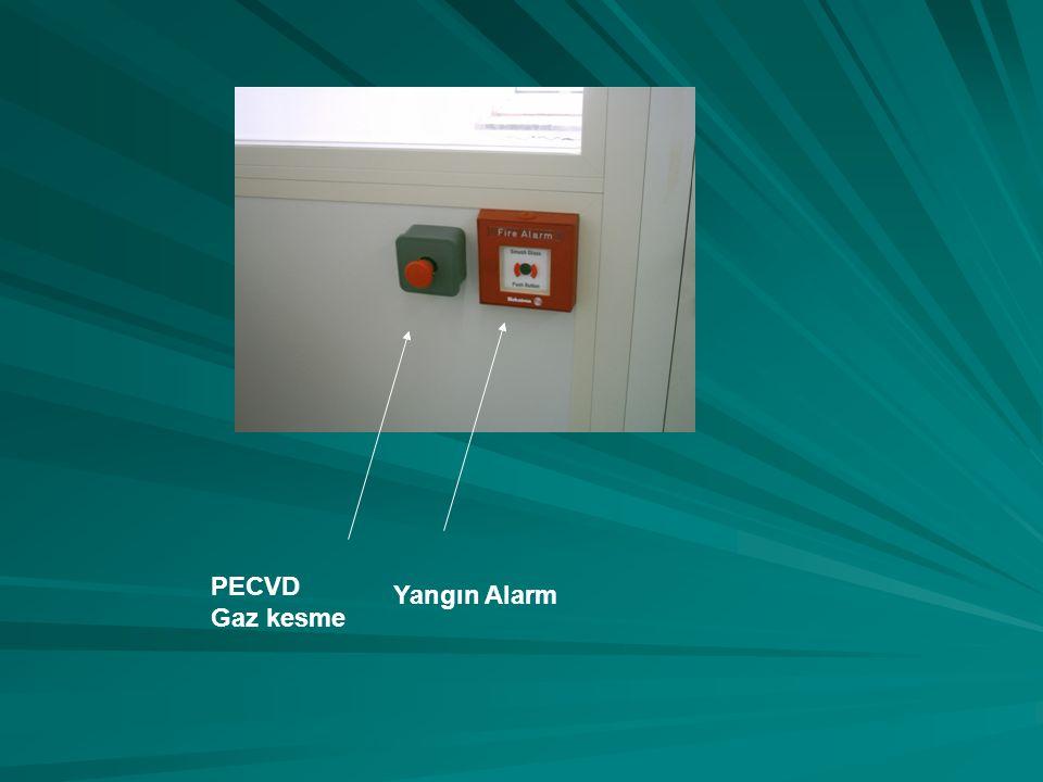 PECVD Gaz kesme Yangın Alarm