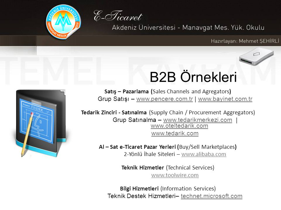 B2B Örnekleri Satış – Pazarlama (Sales Channels and Agregators)
