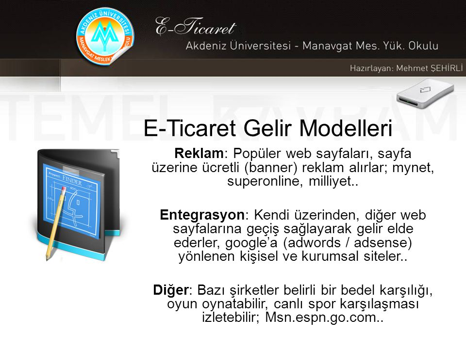 E-Ticaret Gelir Modelleri