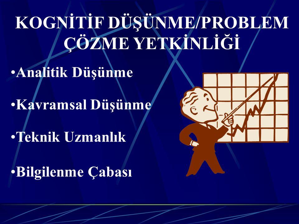 KOGNİTİF DÜŞÜNME/PROBLEM ÇÖZME YETKİNLİĞİ