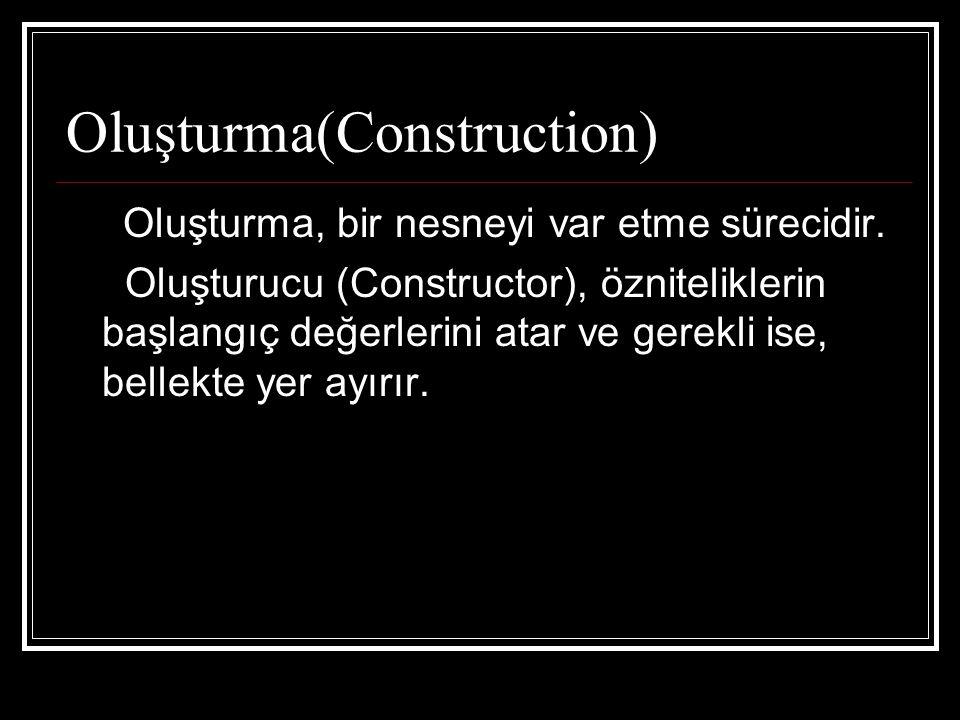 Oluşturma(Construction)