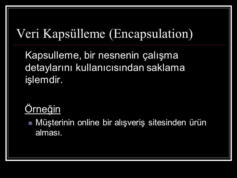 Veri Kapsülleme (Encapsulation)