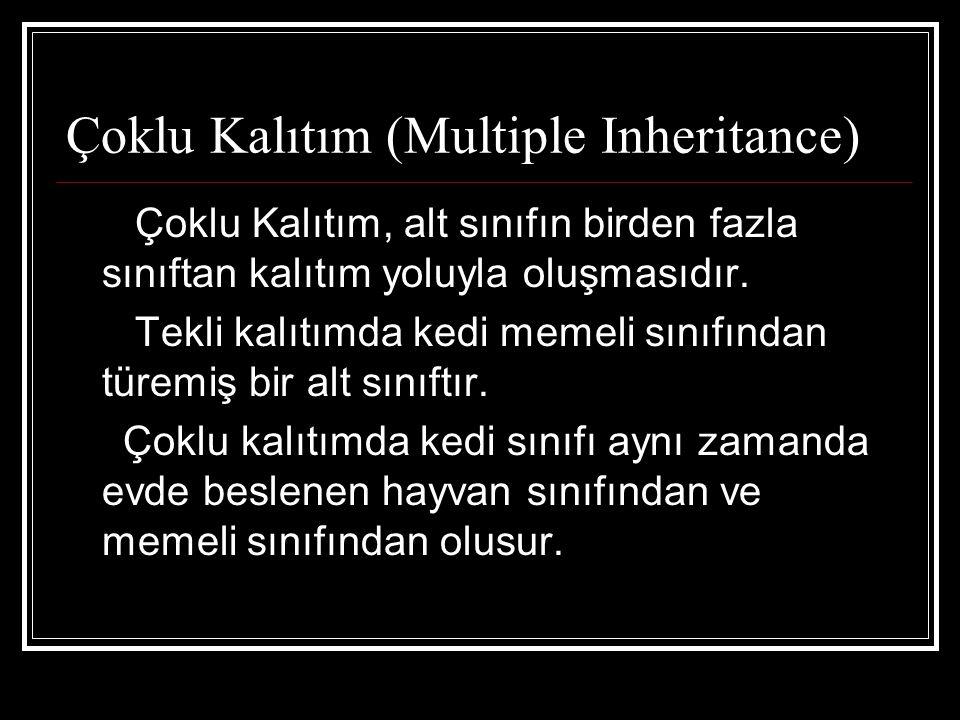 Çoklu Kalıtım (Multiple Inheritance)