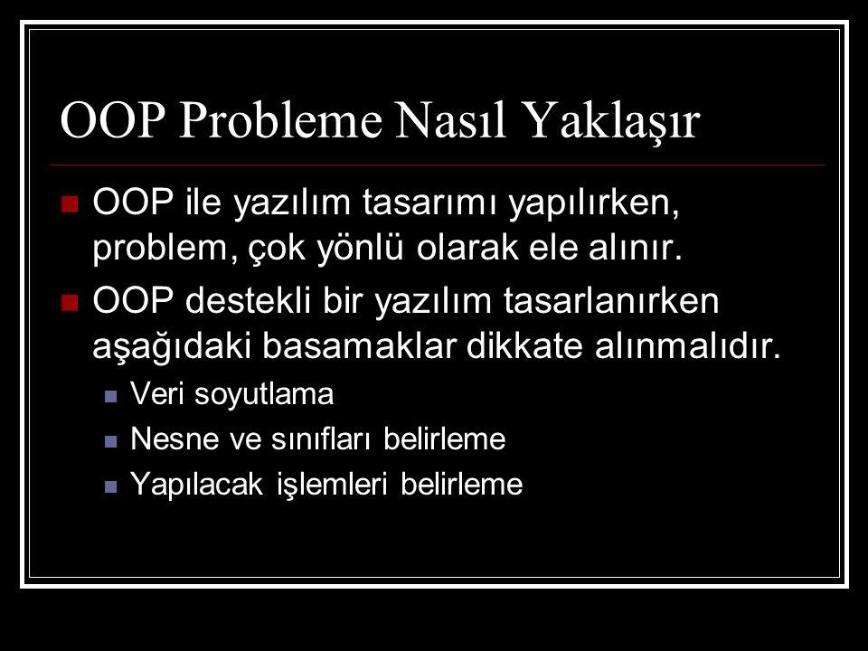 OOP Probleme Nasıl Yaklaşır