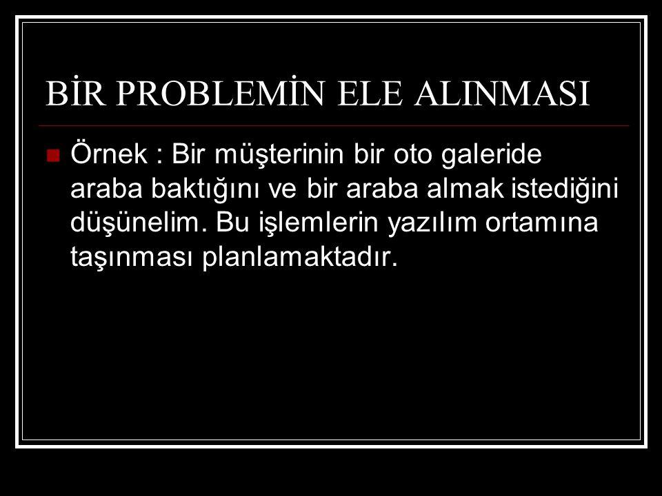BİR PROBLEMİN ELE ALINMASI