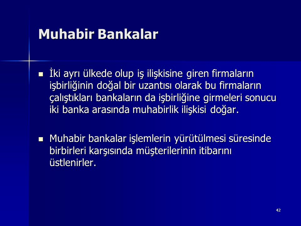 Muhabir Bankalar