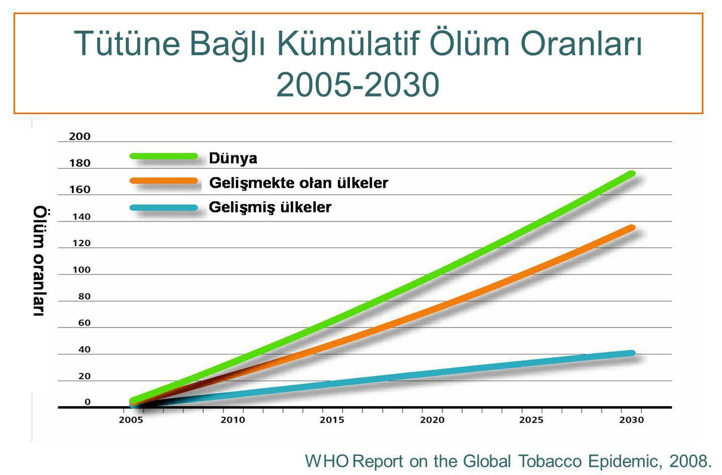 Tütüne Bağlı Kümülatif Ölüm Oranları