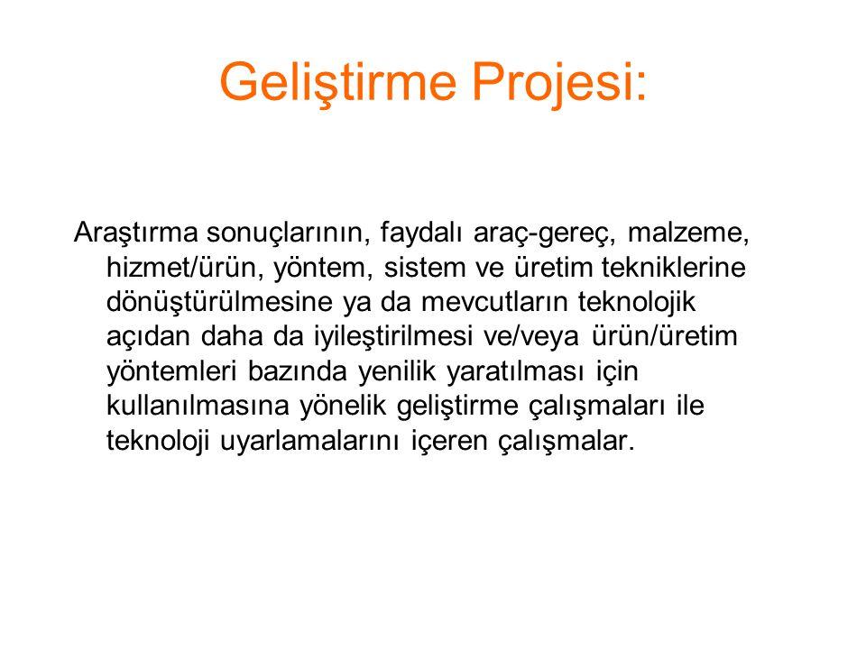 Geliştirme Projesi: