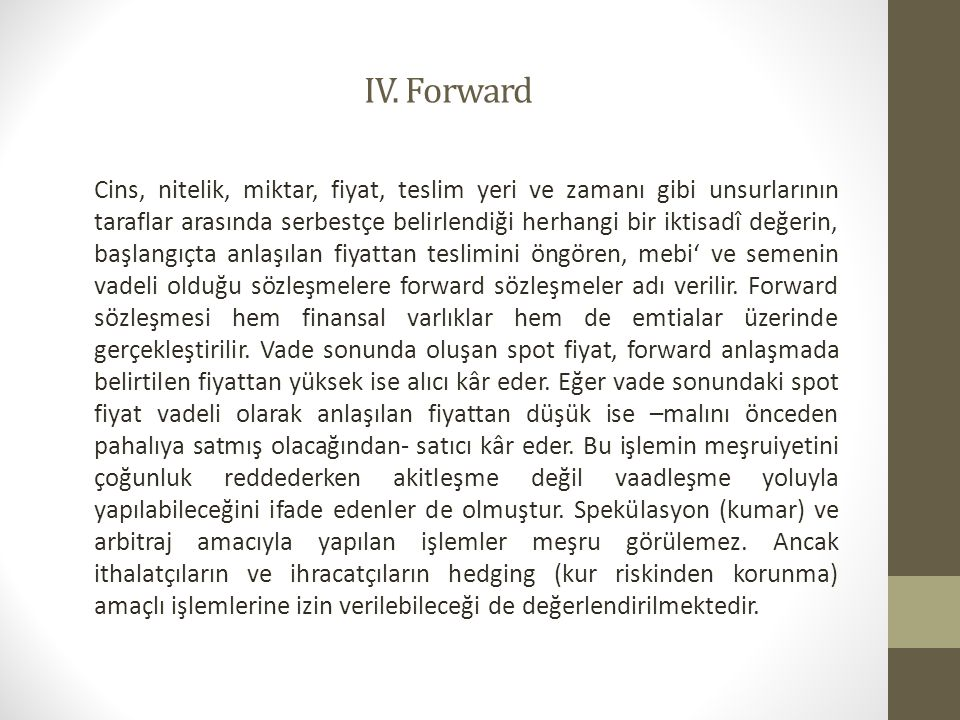IV. Forward
