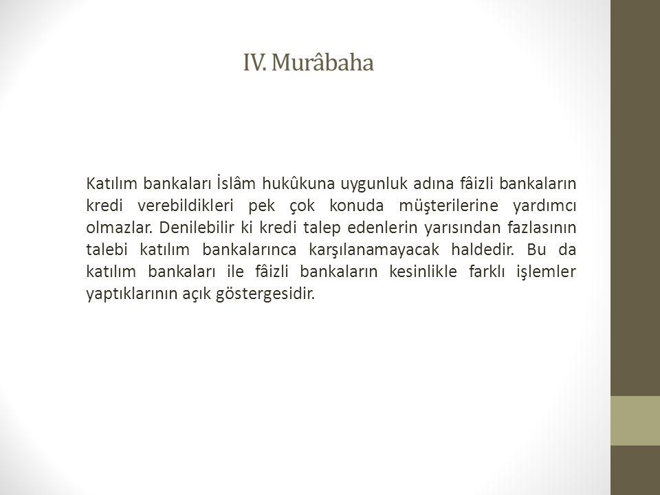 IV. Murâbaha