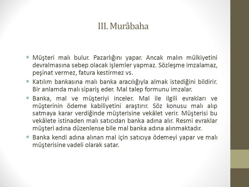 III. Murâbaha