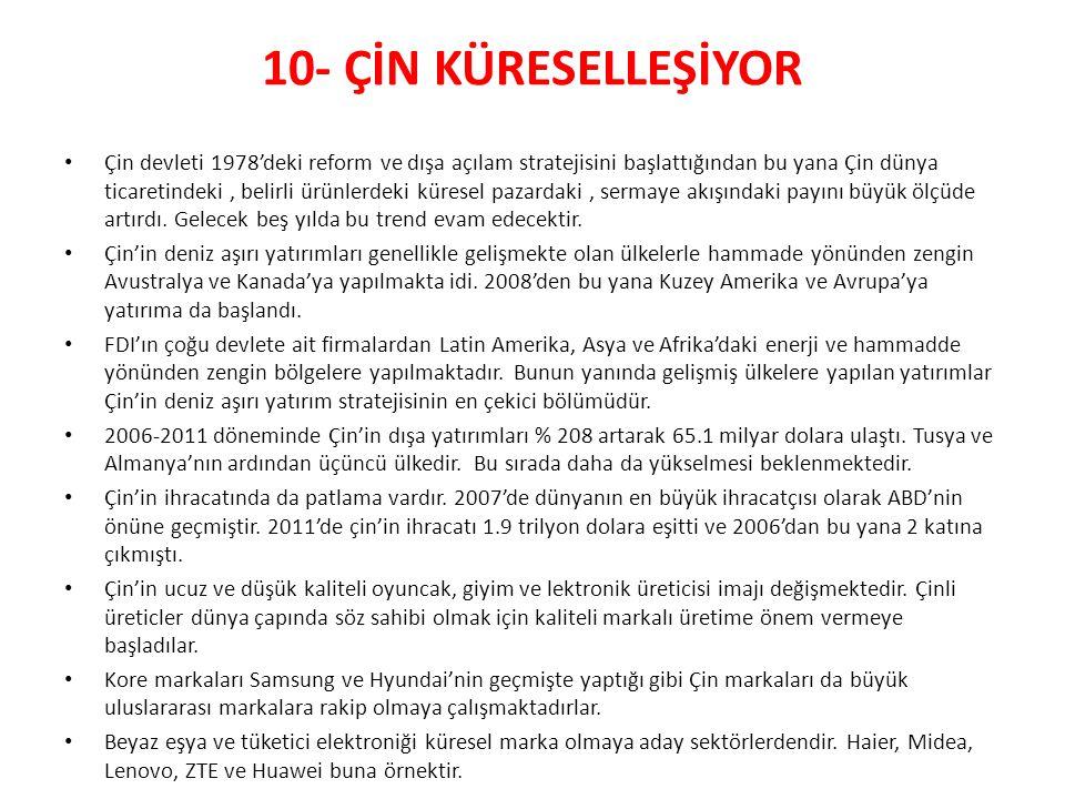 10- ÇİN KÜRESELLEŞİYOR