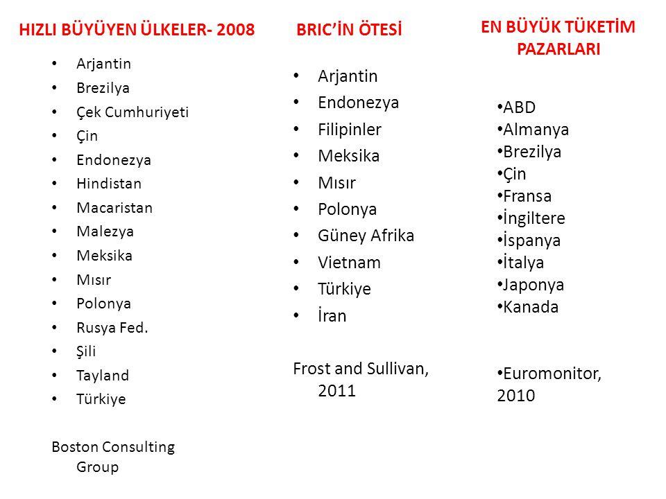 HIZLI BÜYÜYEN ÜLKELER- 2008