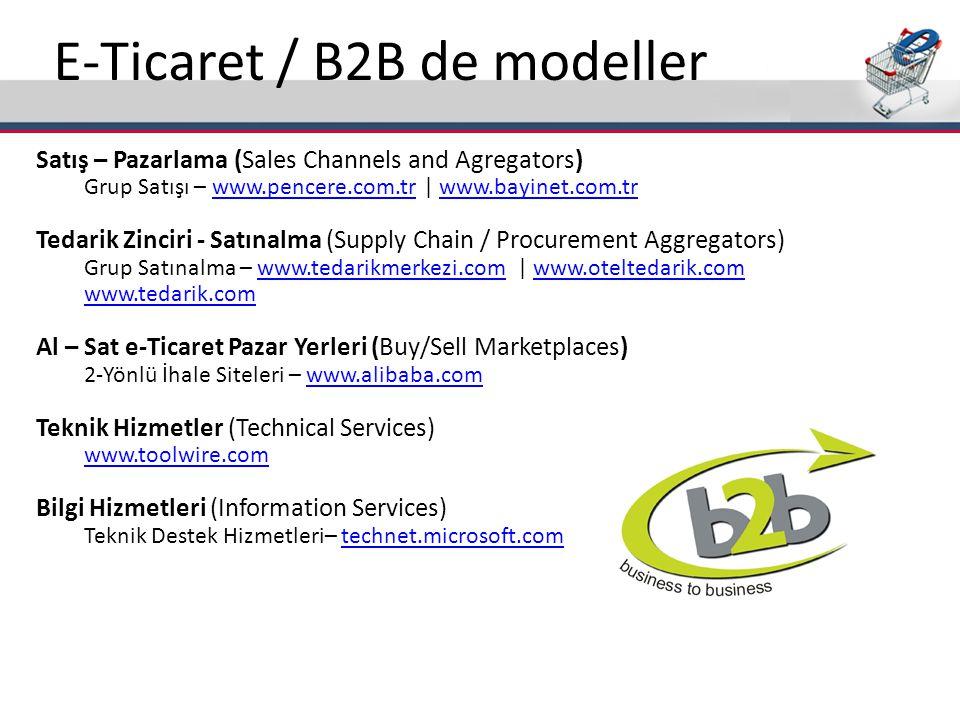 E-Ticaret / B2B de modeller