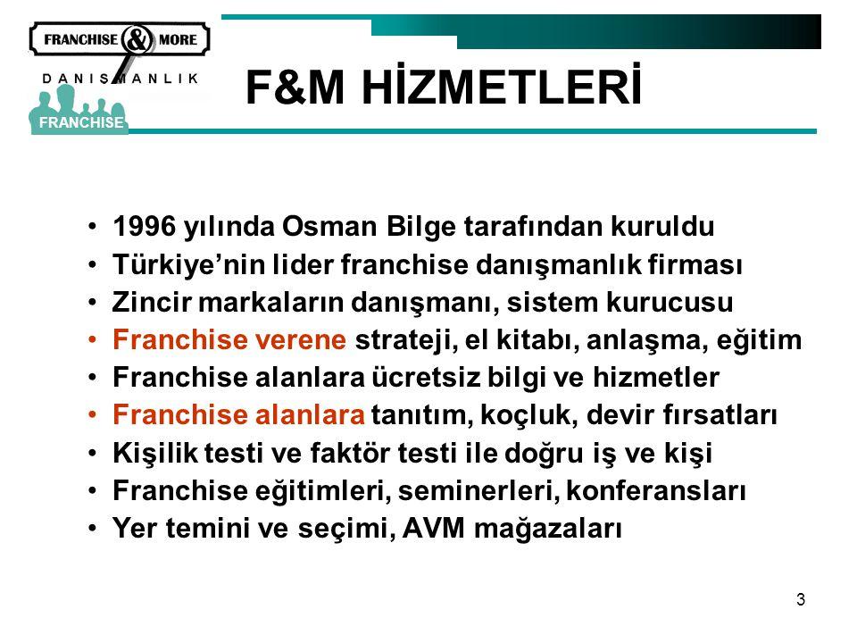F&M HİZMETLERİ 1996 yılında Osman Bilge tarafından kuruldu