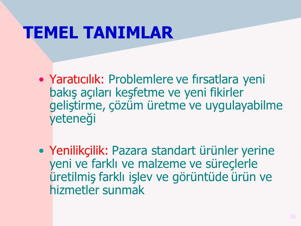 TEMEL TANIMLAR