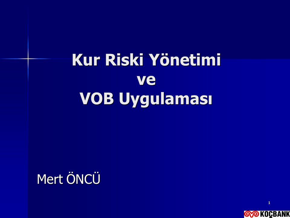 Kur Riski Yönetimi ve VOB Uygulaması