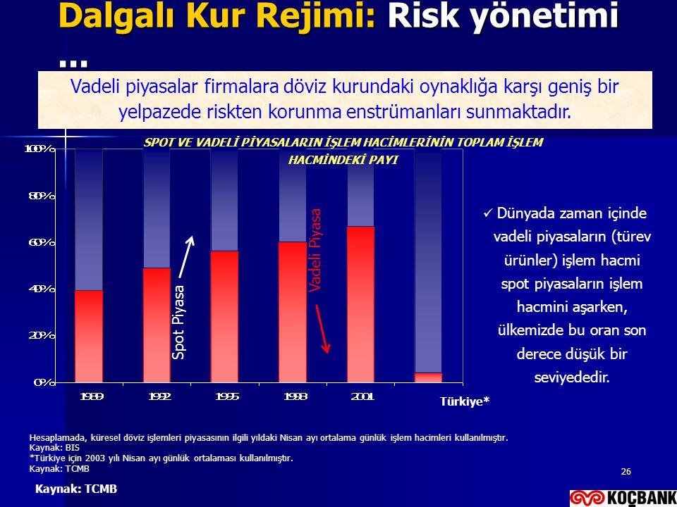 Dalgalı Kur Rejimi: Risk yönetimi ...