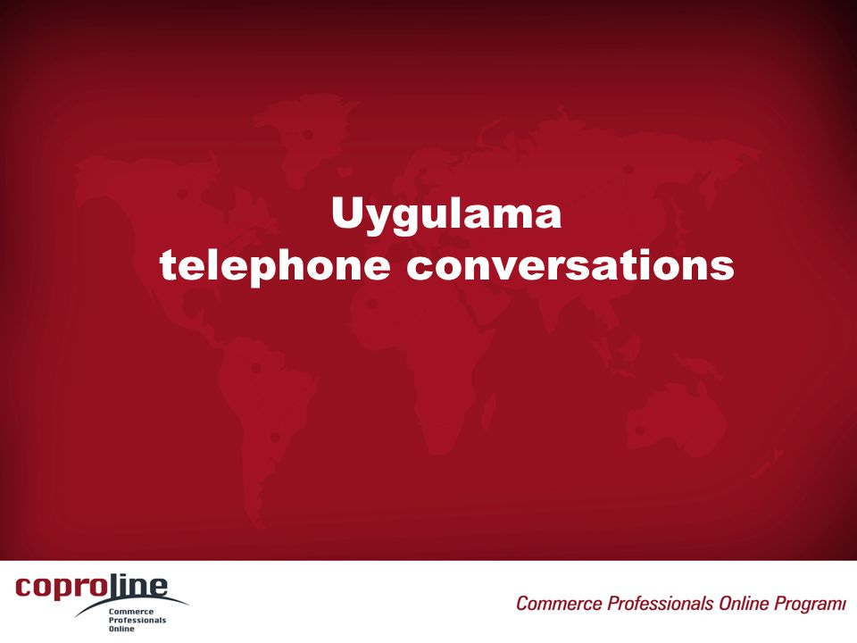 Uygulama telephone conversations