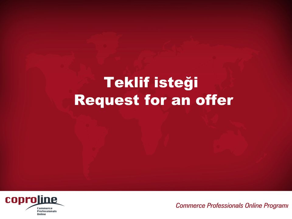 Teklif isteği Request for an offer