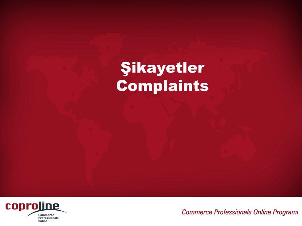 Şikayetler Complaints