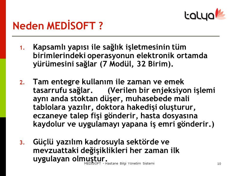 MEDİSOFT - Hastane Bilgi Yönetim Sistemi